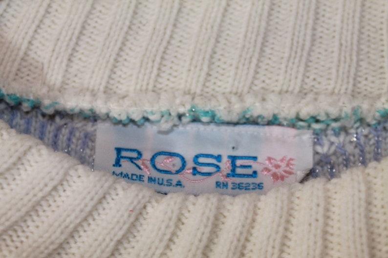 1980/'s Pastel SnowflakeFlower Sweater