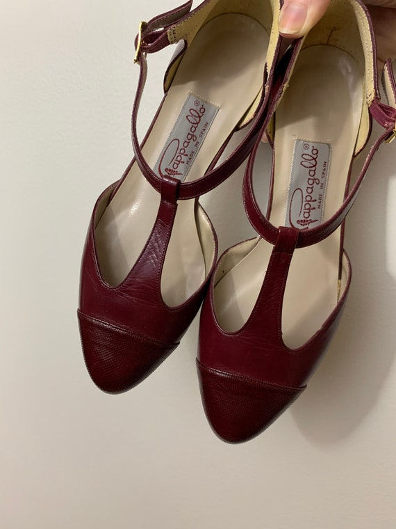 1980's Pappagallo Cherry Red Flats