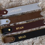 Personalized Leather Bookmark. Custom Genuine Leather Two Tone Bookmark, add your name,  initials or a saying! Monogrammed Bookmark.
