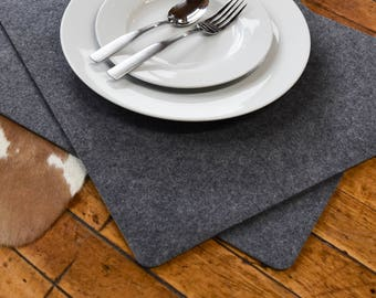 """Premium Modern  Felt Placemats. 17"""" x 13"""" Set of 2! Thick Felt. Protects Your Table.  Ships from USA. Table protector. Table cover8"""