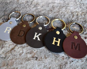 Personalized Leather Keychain  Custom Leather Keychain  | Etsy