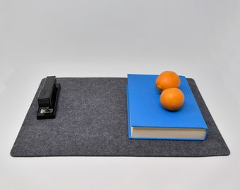 """Premium Modern  Felt Placemats. 17"""" x 13"""" Set of 2! Thick Felt. Protects Your Table.  Minimalistic Home Decor. Table protector. Table cover."""