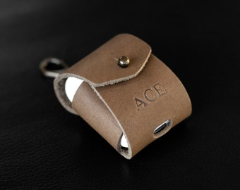 Personalized Leather Airpod Case. Monogrammed Airpod Case. Airpods 1 & 2 Leather Charging Case Holder. Custom Leather Case Airpods Gift.