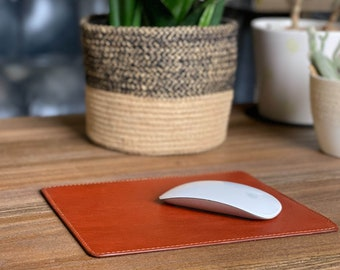 Modern Collection Leather Mouse Pad. Personalized Mousepad. WFH Mouse Pads. Custom Mouse Pad. Graduation Gift. Mouse Pad. Work From Home.