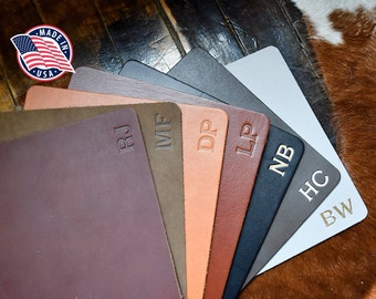 Personalized Leather Mousepad. Full Grain Premium Real Leather. Personalized Mouse Pad. WFH. Multiple Colors Available w Gold & Silver Foil.