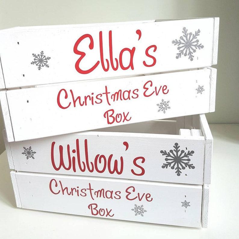 Christmas Crate Box.Christmas Eve Box Personalised Christmas Eve Box Personalised Christmas Crate Christmas Eve Crate Christmas Hamper Santa Hamper