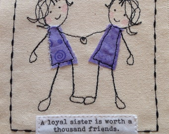 Birthday Card For Sister Get Well Thank You Twin Can Be Personalised With Your Words Printed Top Of The