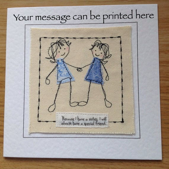 Handmade Birthday Card For Sister With Special Quote Sister Etsy