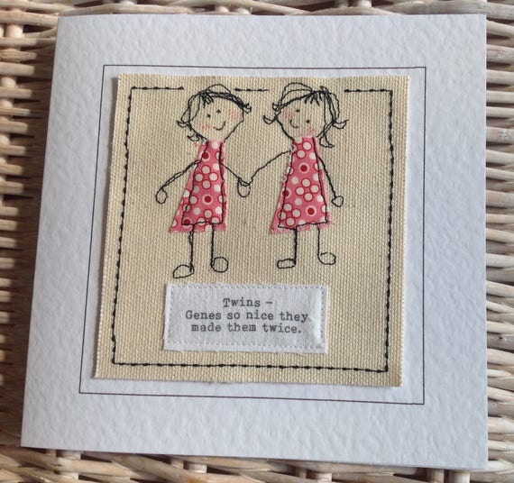 Twin Sister Birthday Card With Special Quote To My Twin Etsy