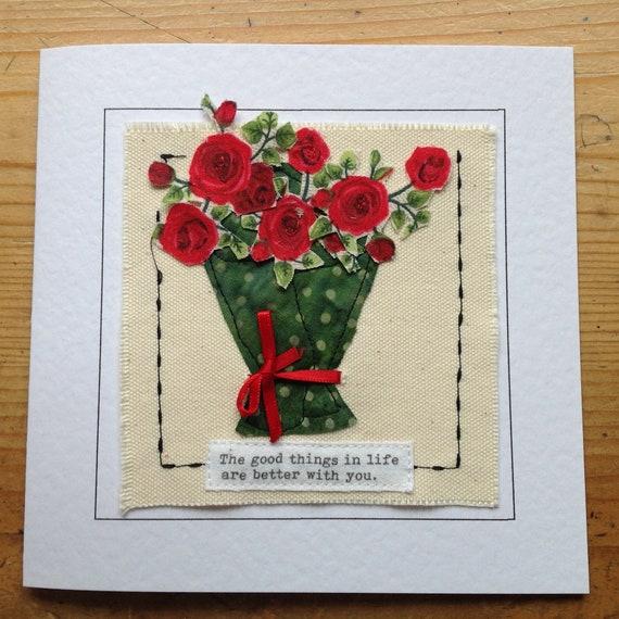 Bouquet De Carte De Fleurs Pour La Saint Valentin Ou 4eme Etsy