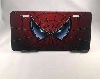 Spiderman License plate