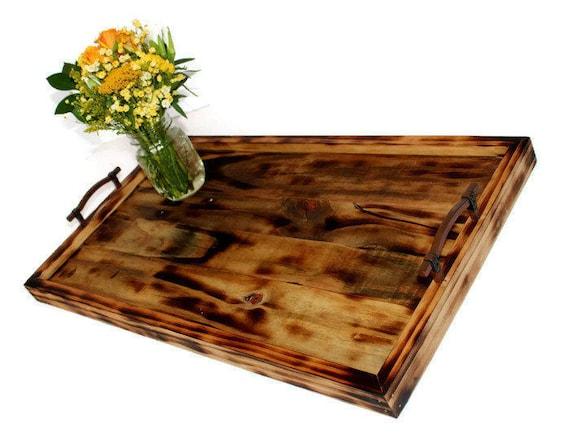 Enjoyable Large Reclaimed Wood Serving Tray Breakfast Tray Reclaimed Wood Tray Rustic Tray Distressed Ottoman Tray Personalized Serving Tray Spiritservingveterans Wood Chair Design Ideas Spiritservingveteransorg