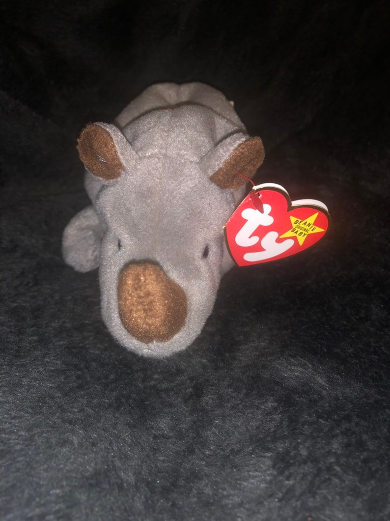 d1213166543 Ty Original Spike Beanie Baby with errors Style 4060 PVC