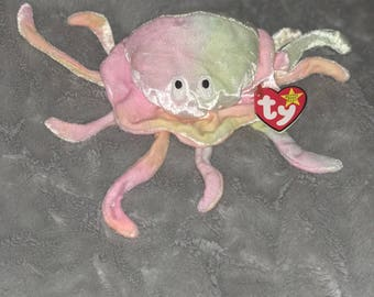Ty Original Goochy Beanie Baby with errors, Style 4230, PE Pellets, No red stamp in tush tag. KR (Korean) next to 1965.
