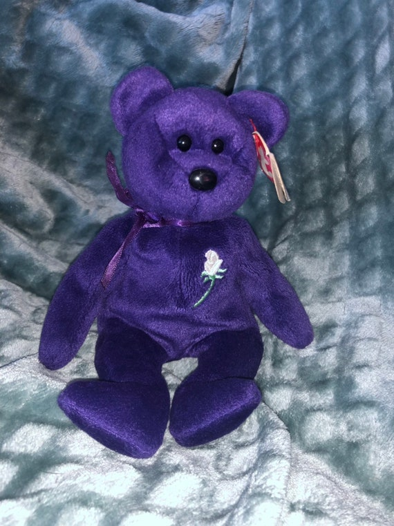 Ty Original Princess Beanie Baby with errors Style 4300 PE  9873bf303bc7