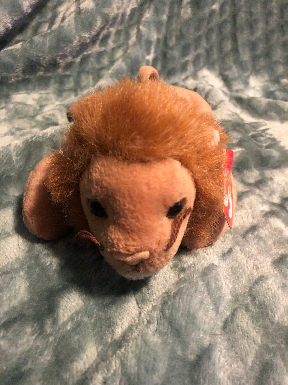 c0cc081d4d1 Ty Original Roary Beanie Baby with errors P.E. Pellets. 4069.