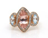 Morganite Rose Gold Engag...