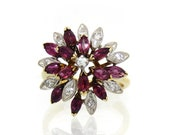 14K Ruby & Diamond Starbu...