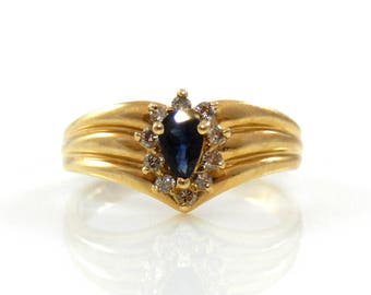 14K Circlet of Sapphire with Diamonds Ring - X2407