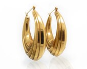 Large Sculpted Hoops in 1...
