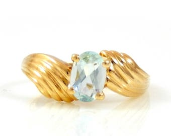Aquamarine 14K Gold Ring - X2595