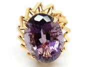 14K Yellow Gold Amethyst ...