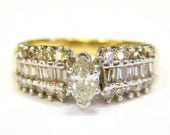 Marquise Diamond 14K Gold...