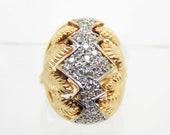 Vintage 14K Diamond Egypt...