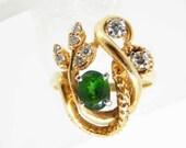 Vintage 14K Emerald Diamo...