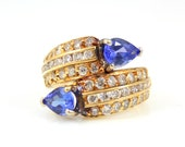 10K Tanzanite & Diamond R...