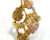 Black Hills Gold Leaf Tri...