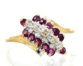 10K Vintage Ruby Diamond ...