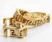Vintage 14K Greek Key Ita...