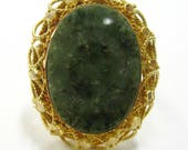 18K Moss Agate Ring - X31...
