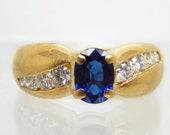 Vintage 18K Sapphire Diam...