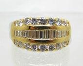 Vintage 18K Diamond Encru...