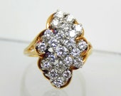 Estate 14K Diamond Cluste...