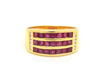 18K Ruby & Diamond Ring - X4364