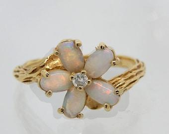 14K Estate Opal Diamond Ring - X3227
