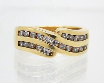 14K Estate Channel Set Diamond Ring - 8974
