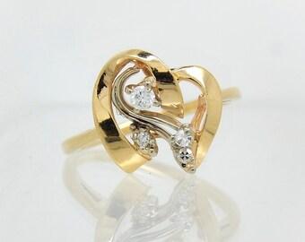 14K VIntage Diamond RIng - X4396