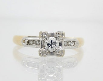 14K Vintage Diamond Ring - X4546
