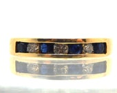 14K Vintage Sapphire Diam...