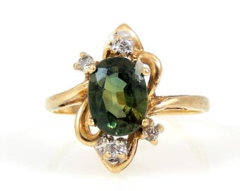 14K Tourmaline & Diamond Ring - X4408