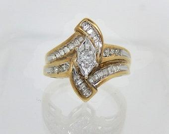 10K Engagement Wedding Diamond Ring