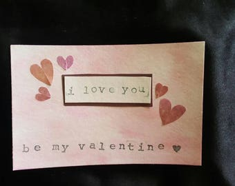 I Love You Handmade Valentine