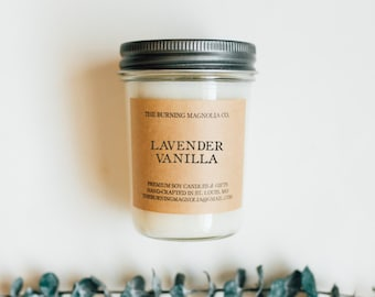 Lavender Vanilla / Hand-Poured, Premium Soy Candle