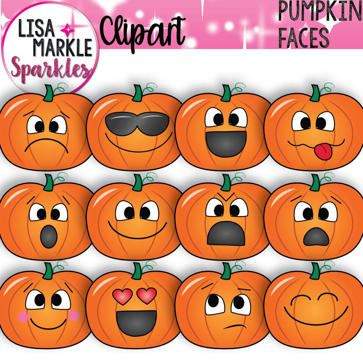 Pumpkin Face Pictures: Fall Clipart Pumpkin Clipart Back To School Clipart Emoji