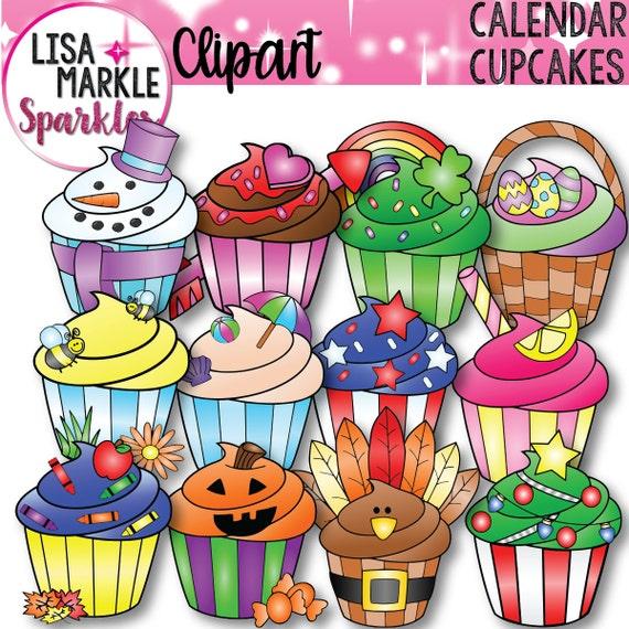 Calendar Clipart Cupcake Clipart Seasonal Clipart Holiday Clipart Christmas Clipart Easter Clipart Summer Clipart Spring Clipart