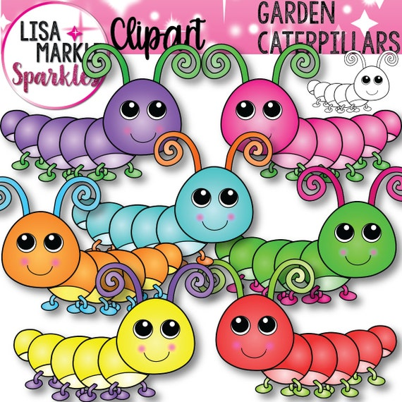 Caterpillar Clipart Cute Spring Clipart Etsy